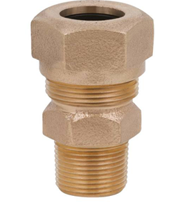 Male Compression Brass Fitting