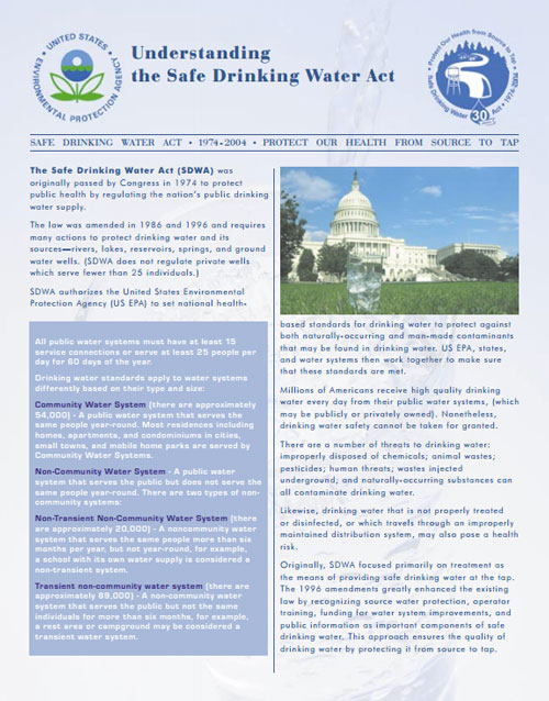 Understanding the Safe Drinking Water Act